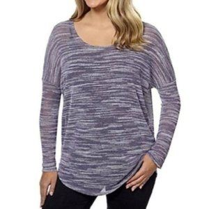 Olive & Oak Dolman Sleeve Tunic Top Purple